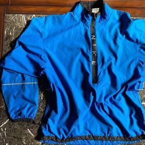Vintage Blue Black Nike Windbreaker Medium